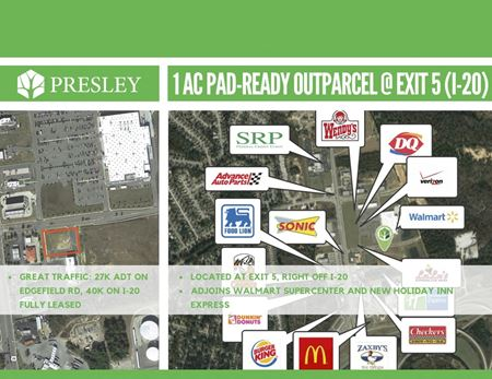 Sweetwater - 1 AC Pad-Ready Outparcel - North Augusta