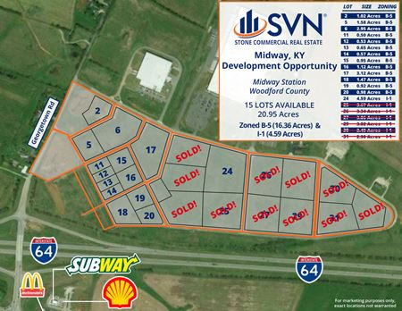 Midway Station I-1 & B-5 Lots For Sale - Midway