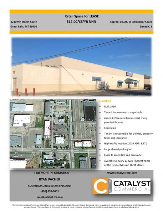 Building for Lease Jan. 2022