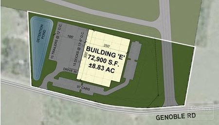 ±8.8-Acre Industrial Outparcel at The Cubes at Inland 85 - Greer