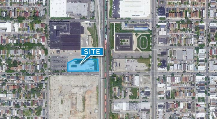 Industrial building/redevelopment site for sale.