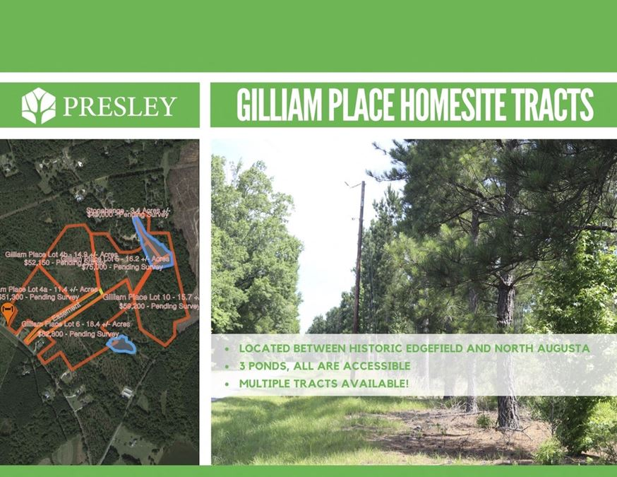 Gilliam Place Homesite Tracts