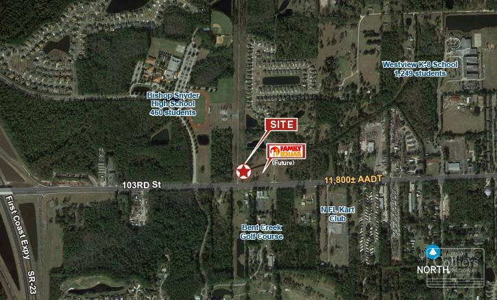 1.25± AC Next to Family Dollar   103rd St. & Magnolia Valley Dr.