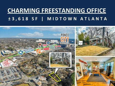 Charming Freestanding Office | Midtown Atlanta | ± 3,618 SF - Atlanta