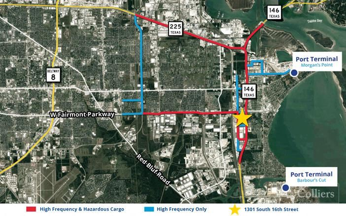 For Sale or Lease   ±109,080 SF in LaPorte, Texas