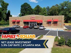 Family Dollar Net Lease Investment   5.9% Cap Rate   Atlanta MSA - East Point