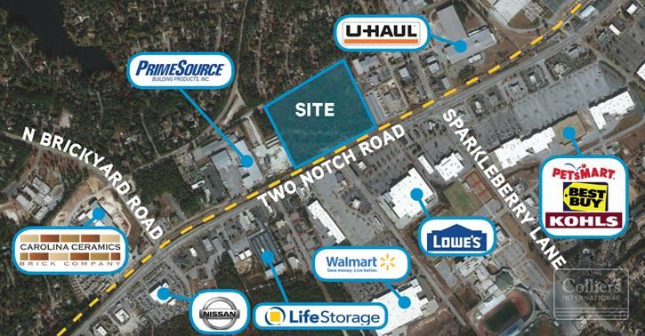 18 Acres of Heavy Industrial Land on Two Notch Corridor