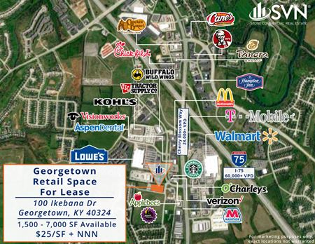 100 Ikebana Path -New Construction Retail for Lease - Blossom Park Commons - Georgetown