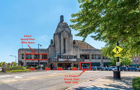 Pickwick theatre office/ and store front - Park Ridge