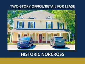 Two-Story Office/Retail For Lease   Historic Norcross   ± 2,500 - 5,000 SF - Norcross