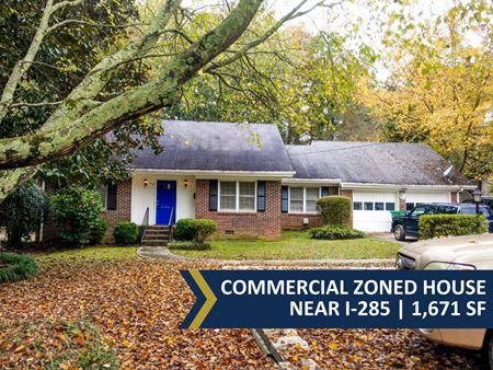 Commercial Zoned House Near I-285   1,671 SF - Tucker