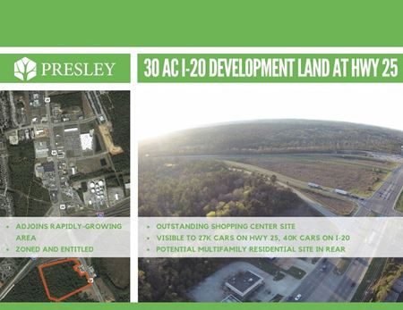 31 Acres Commercial Land at I-20 & Hwy 25 - North Augusta