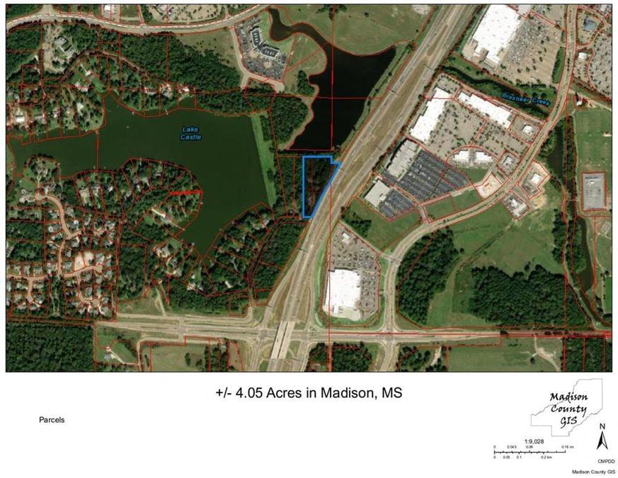 +/- 4.05 Acres in Madison, Mississippi -Visbile from I-55
