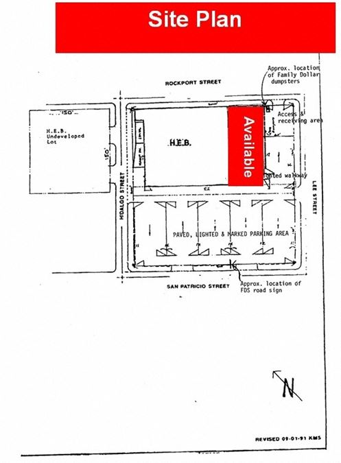 Lease Space Adjacent to HEB Grocery