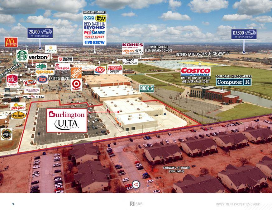Moore, OK - Burlington, Ulta, and Shops
