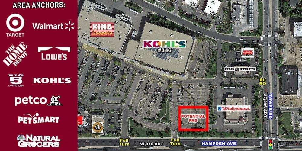 Pad Site Adjacent to Kohl's