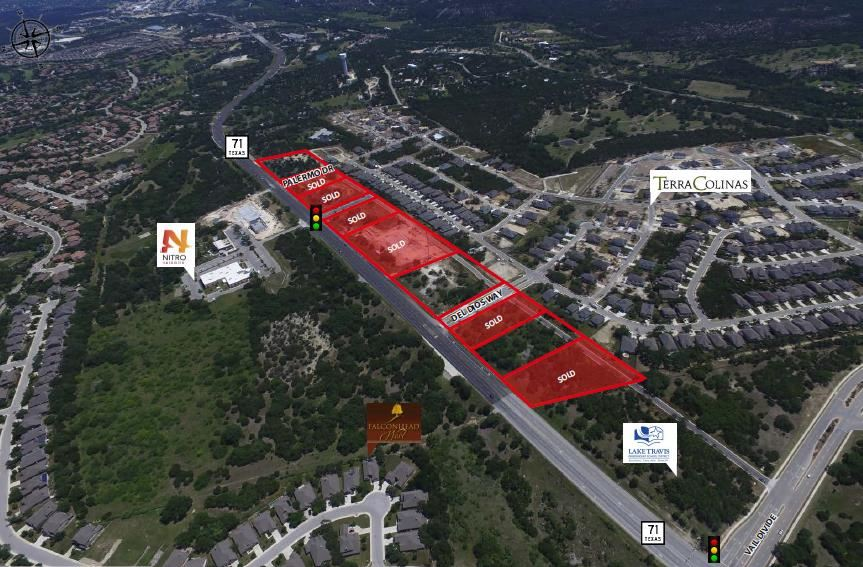 +/- 1.6ac - 3.7ac | Bella Colinas Retail Hwy 71 | Bee Cave, TX
