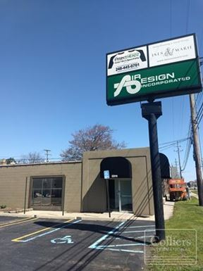For Lease > 1,200 - 2,400 SF Immediatiately Available on Highly Traveled Telegraph Road in Southfield