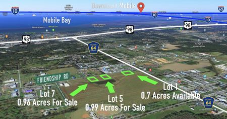 Lot 1 Available: Daphne, Alabama: County Road 64 and Friendship Road - Daphne