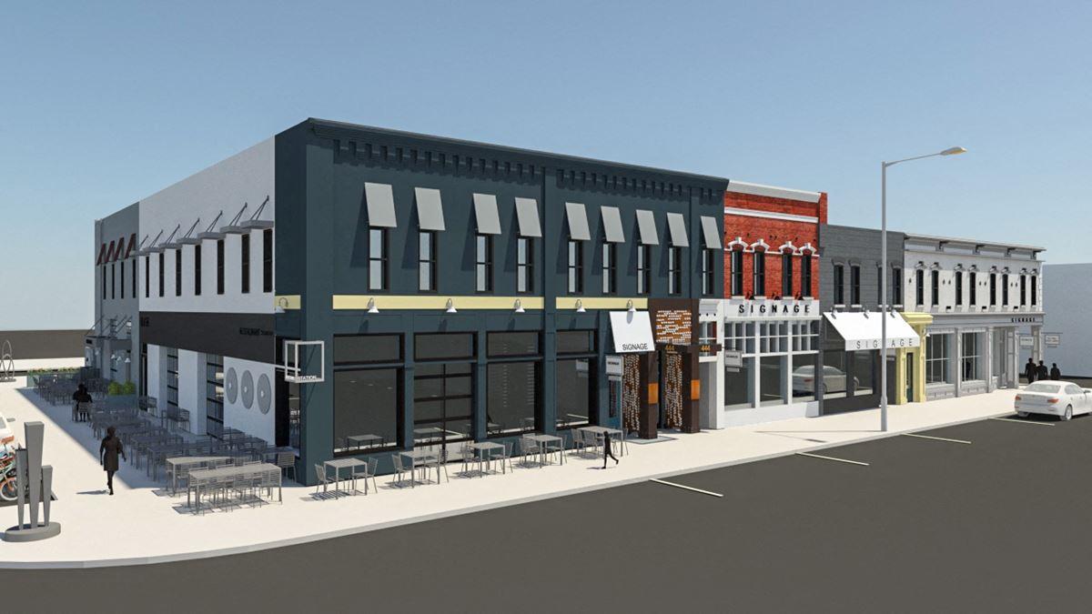 Cleveland Station Retail - Facade Improvements Underway!