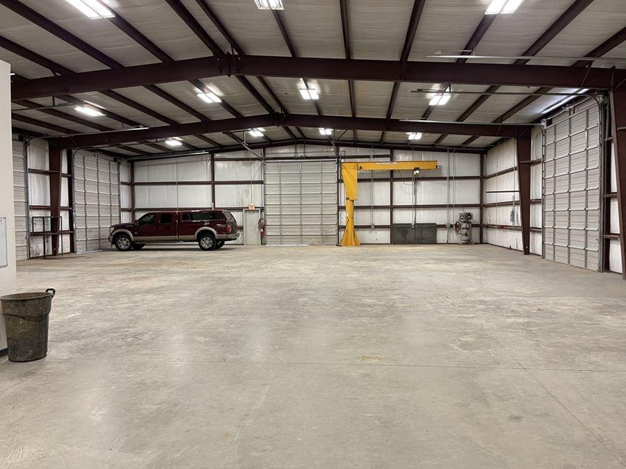 2 Drive-Thru Bay Shop with 2-ton Jib Crane