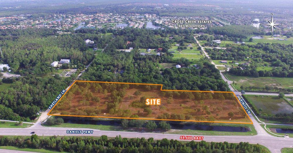 6.84 Acres on Daniels Parkway
