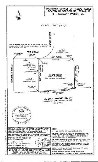 1.93 Acres Across from Abita Brewery