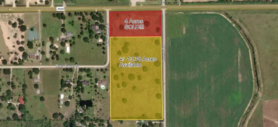 +/- 5 - 13.78 Acres on FM 2920 & Kermier Road
