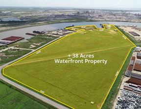 For Sale or Lease | ±38 Acres Waterfront Property Available in Freeport, Texas