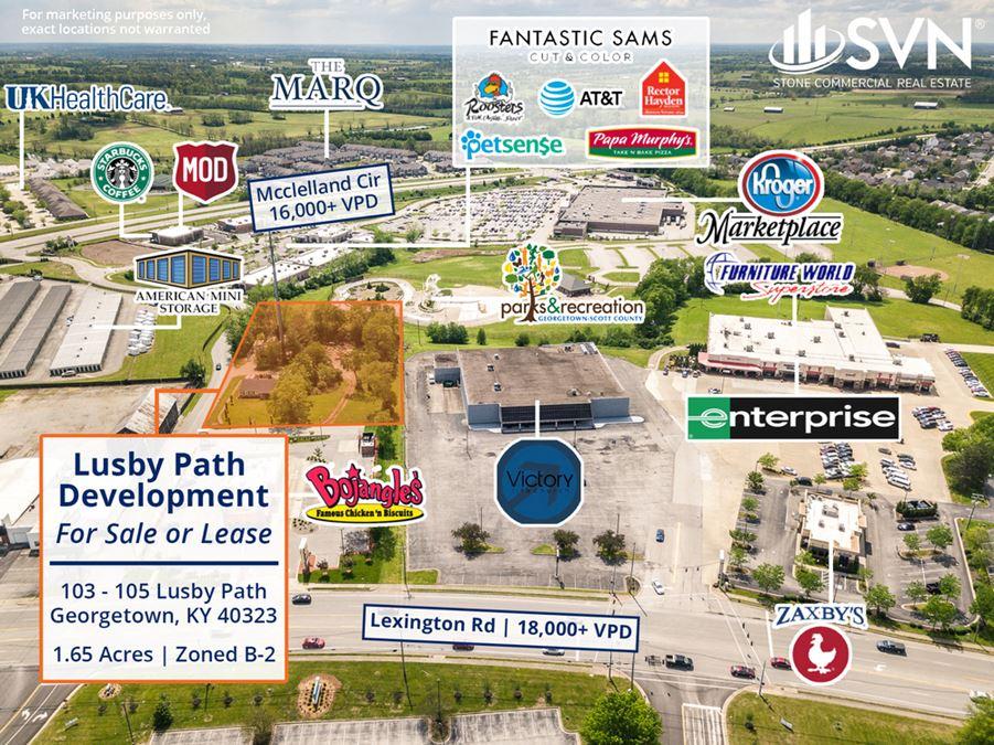103-105 Lusby Path Development Land