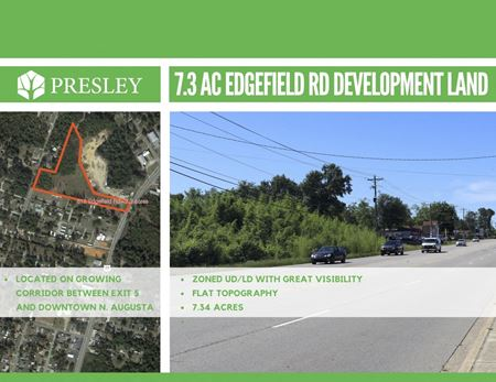 7 AC of Commercial Land - Edgefield Rd., North Augusta - North Augusta