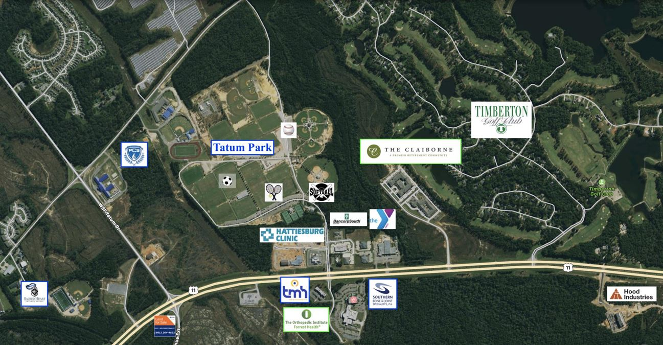 Opportunity Zone | Signalized Corner | Veterans Memorial Drive | Hattiesburg, MS