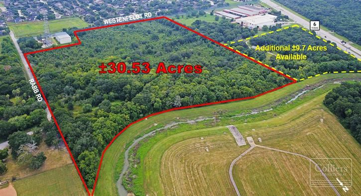 For Sale   ±30.53-Acre Development Tract Near Hwy 6