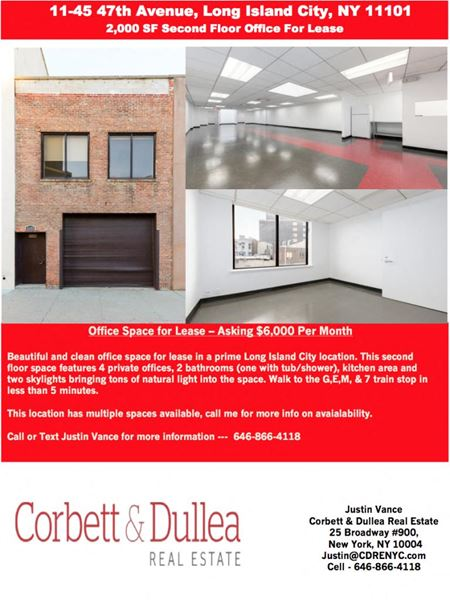 11-45 47th Avenue 2nd Floor Office Space - Queens