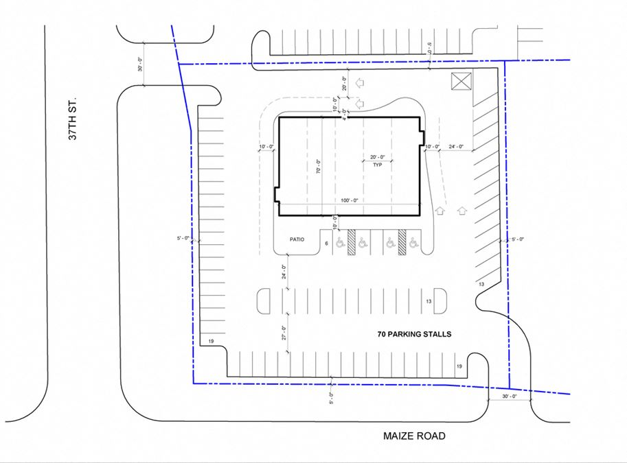 Planned Retail Strip Center