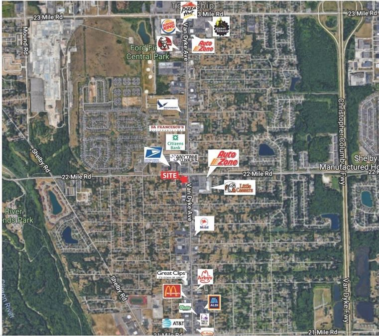New Construction Opportunity at Van Dyke & 22 Mile Road in Shelby Twp., MI