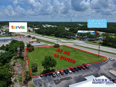 .9 ACRE Corner Parcel Zoned CI with 214' of Frontage on Route 41 - Osprey