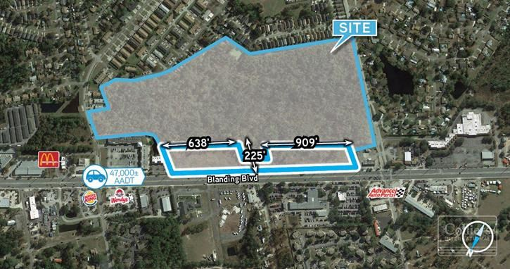 8± AC of Outparcels on Blanding Blvd between Jefferson and Tanglewood