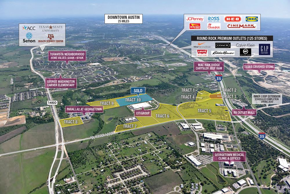 Prime Mixed-Used Development Parcels - Georgetown, TX (Austin)