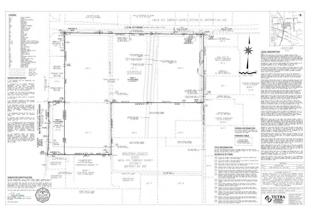 39.29 Acres @ the SE Corner of FM 517 & Highway 35 Bypass