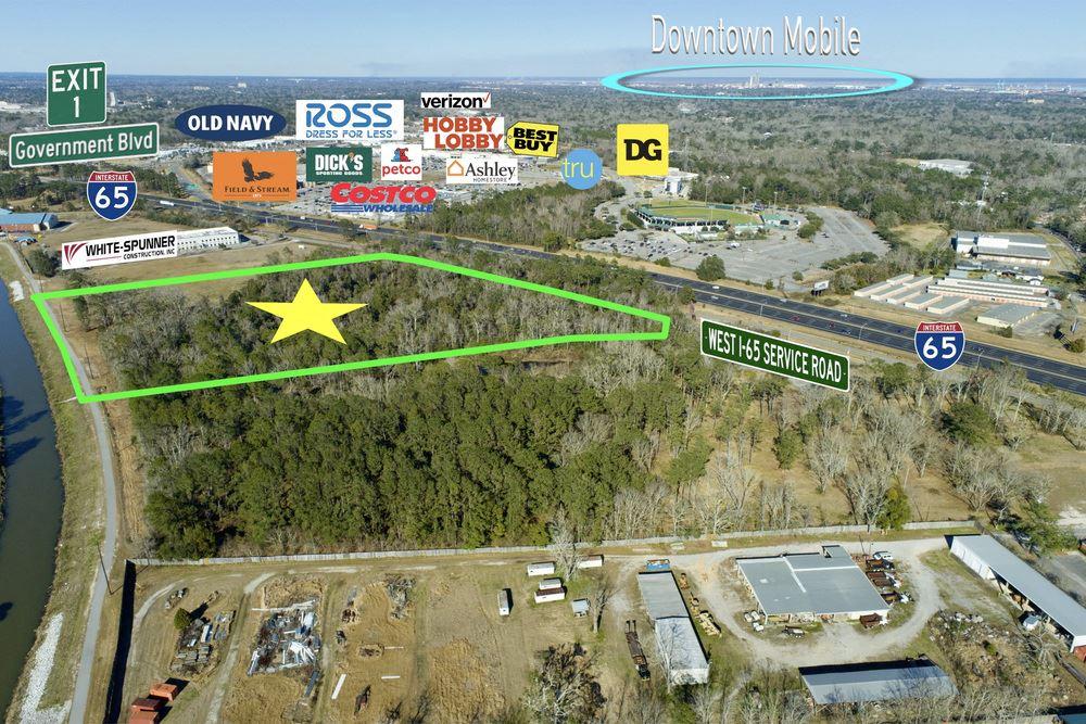 20 Acres off Interstate 65 in Mobile, Alabama