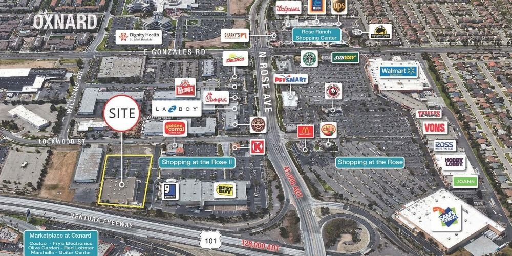 Shopping at the Rose II  - Freeway Visible Co. Anchor Opportunity