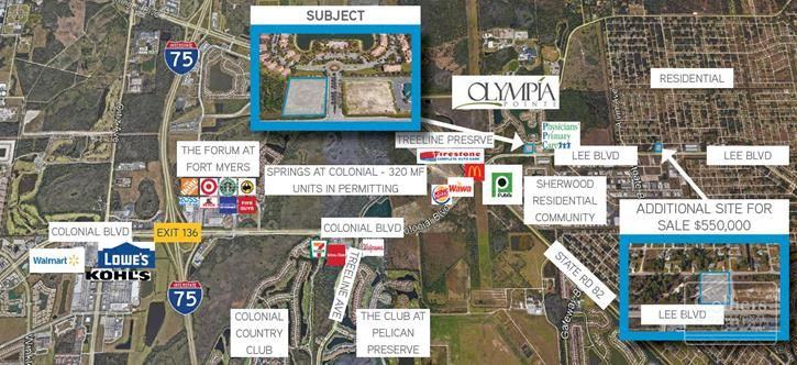 For Sale - Prime Commercial Site with Lee Blvd Frontage