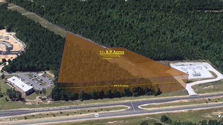 9 Acres Undeveloped Commercial Frontage   Opportunity Zone - Hattiesburg