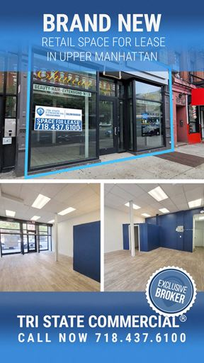 1789 Amsterdam Ave   Retail Space in Upper Manhattan - New York