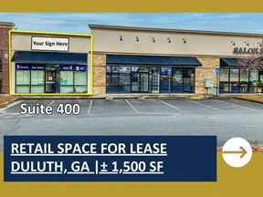 Retail Space For Lease In Duluth   ± 1,500 SF - Duluth