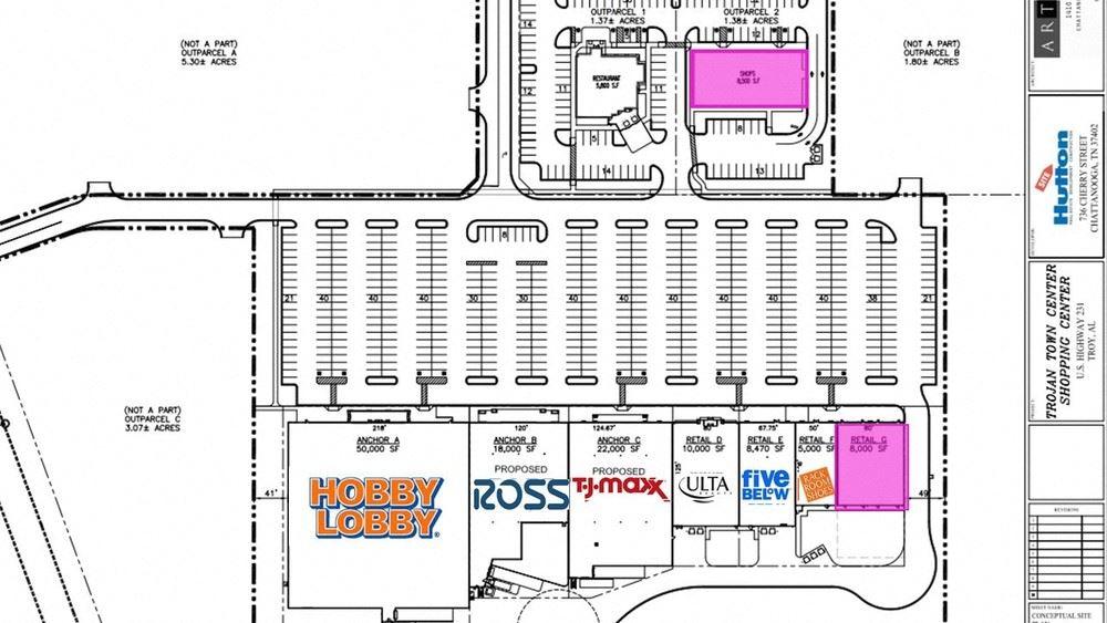 Troy, AL - Outparcel Shops & In-line Space