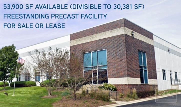 53,900 SF Freestanding Facility (Divisible to 30,381) Available for Sale or Lease | Elgin, IL