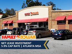 Family Dollar Net Lease Investment | 5.9% Cap Rate | Atlanta MSA - Union City
