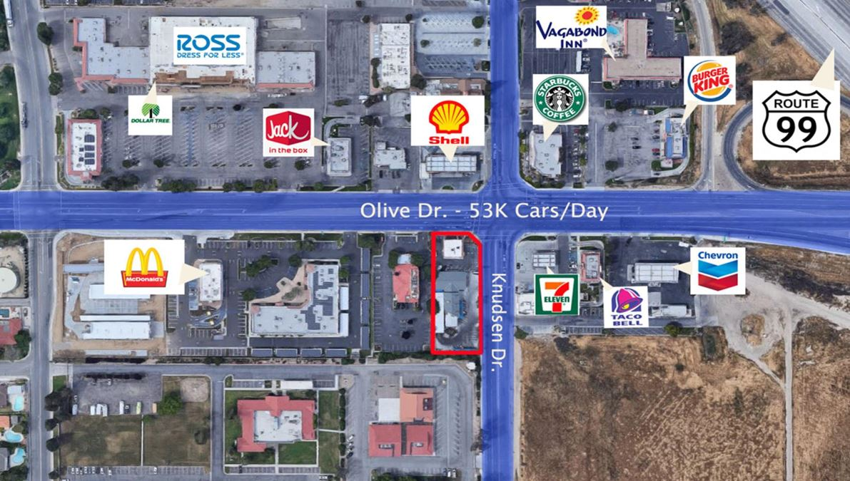 Bakersfield-5301 Olive Drive-Drive Thru Land Opportunity Sale or Lease